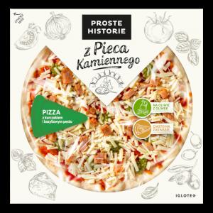 Pizza z kurczakiem i bazyliowym pesto