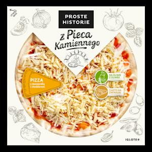 Pizza z mozzarellą i cheddarem